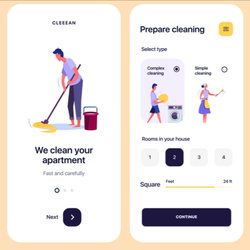 Best House Cleaner Booking App | Android/IOS Cleaning Services App