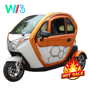 3 Wheel Electric Motorcycle Car with Drive Cabin/Electric Scooter Enclosed with Passenger Seat/Cargo Tricycle for Adults