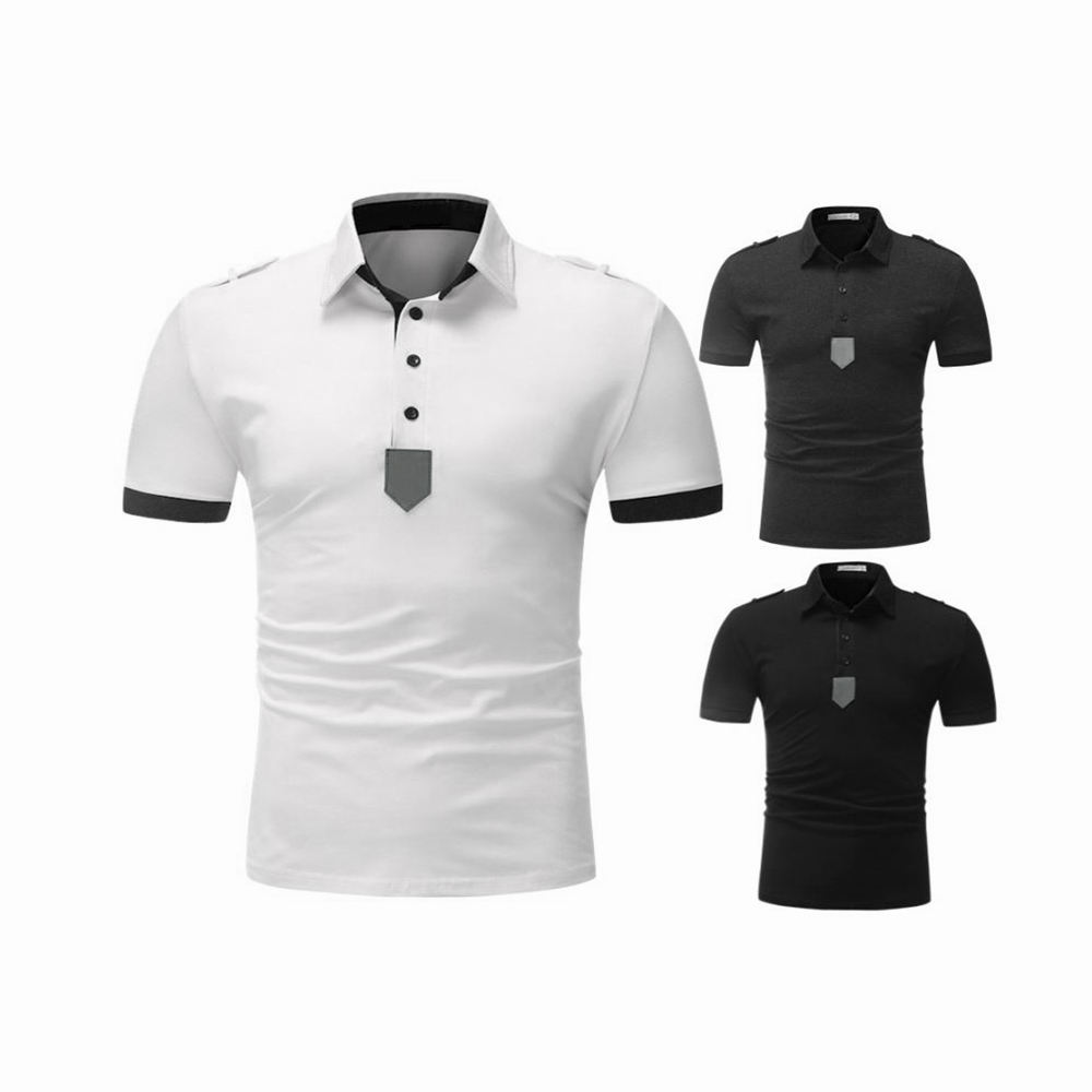 Full Customized Men 100% Cotton Made Half Sleeves Polo Shirts Solid Pattern Made For Men