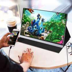 Portable Monitor 1080P Dual Inputs Gaming Monitor for Laptop PC