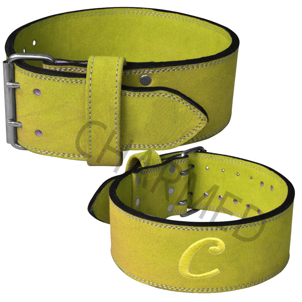 Leather weightlifting / power lifting belt for back support