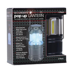 SECUREBRITE - Extra Bright LED POP UP Mini Camping / Emergency Lanterns - 2 Pack