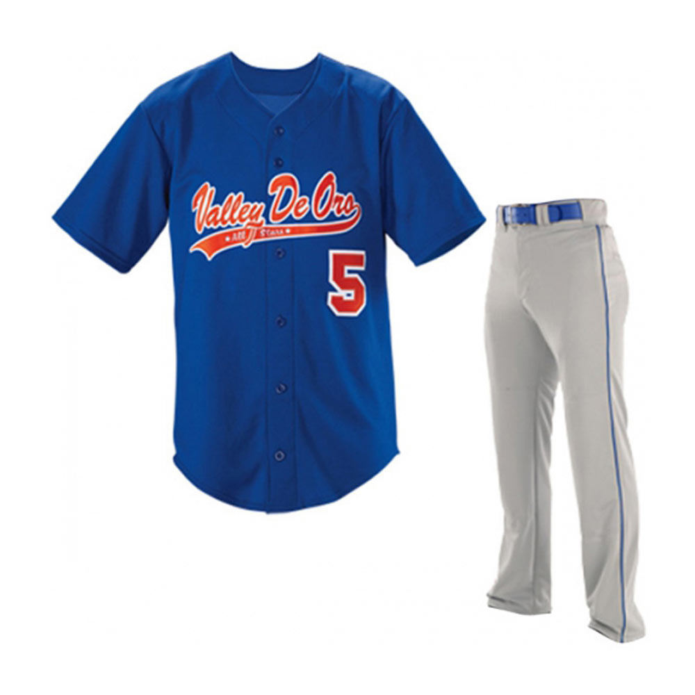 Wholesale 100% Polyester Softball Uniform / Custom Baseball Uniform