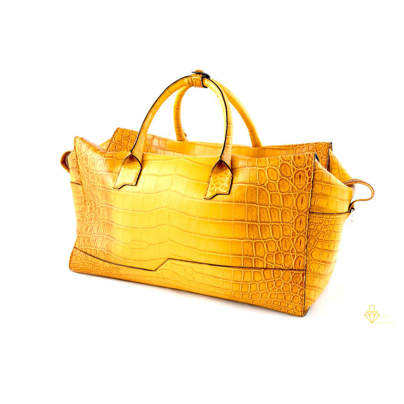 Top Quality OEM ITALIAN Crocodile leather travel bag 45 * 35 *21 cm for export