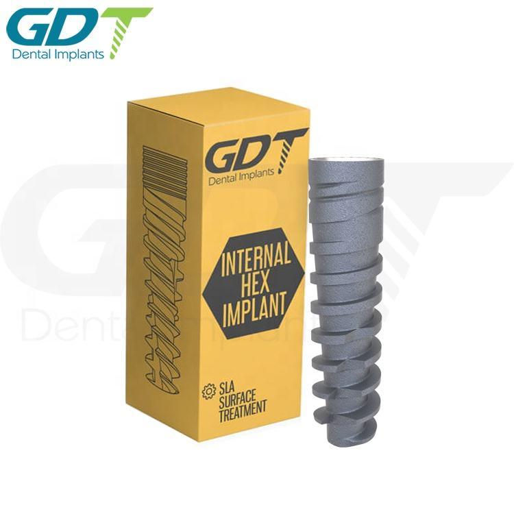 Spiral Implant Slim, Internal Hex 2.0mm Dental Connection GDT Brand Sterile Implants Titanium Material