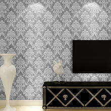 Luxury design embossed non woven tv background wallpaper