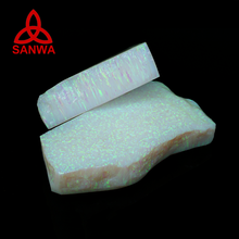 OP16 Sanwa Bello Opal Lab Grown Synthetic White Opal Rough for opal necklace and pendant