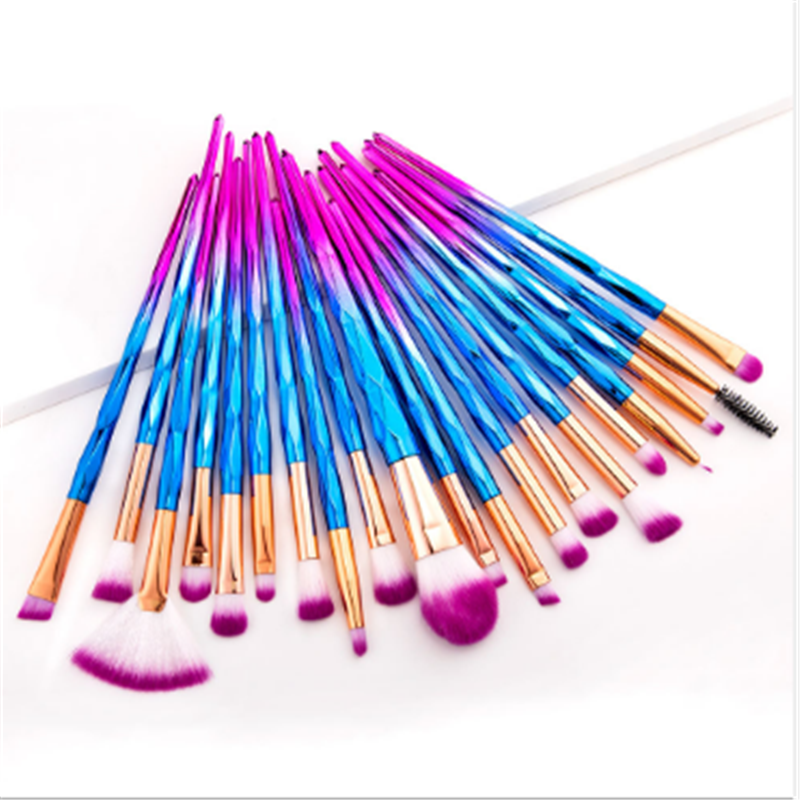 20 Pcs Diamond Makeup Brush Set Eye Brush Beauty Tool Make Up Tool
