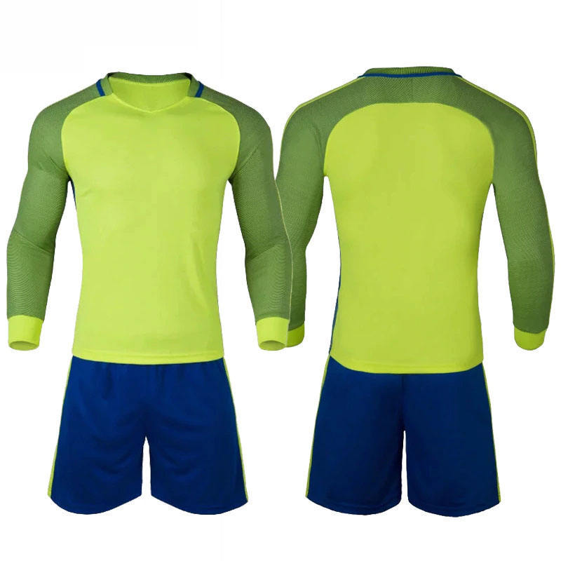 2020 Newest Famous Blank Jersey Soccer Long Sleeve Club Team Soccer Uniform