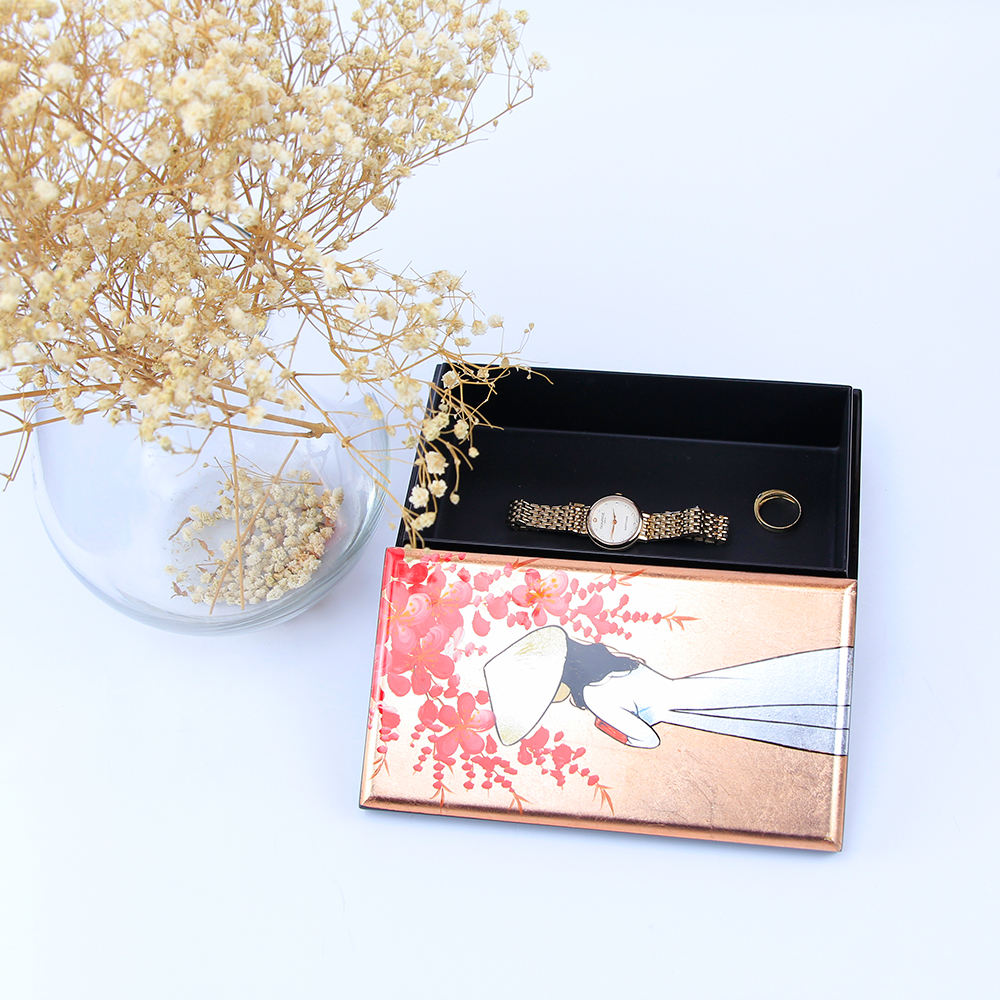 Hot Sale Handmade Free Logo Lacquer Wooden Box in Vietnam Storage Jewelry Decoration For Home