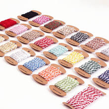 Wholesale macrame rope baker twine Double Color Cotton Rope10m per card for DIY