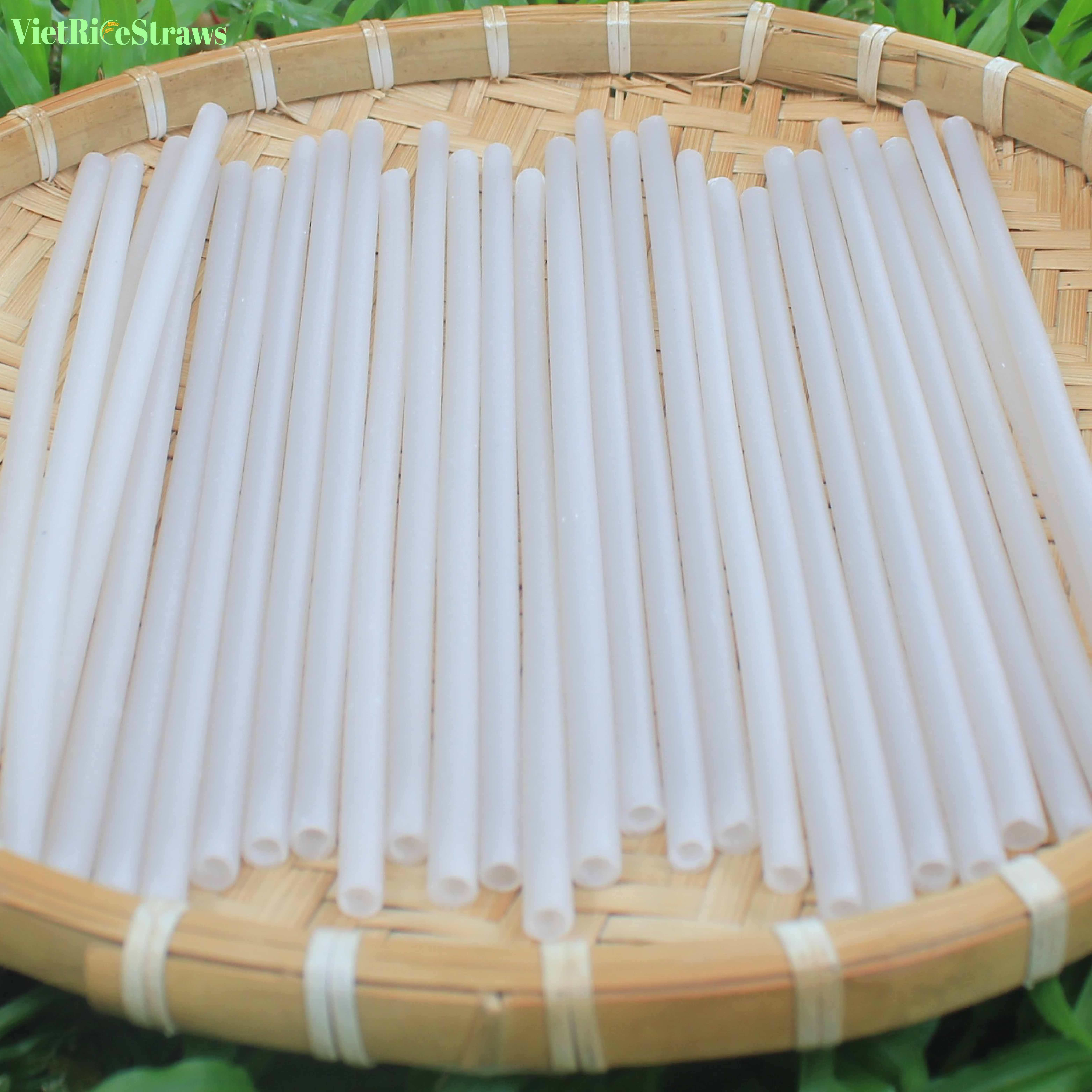 Supplying rice drinking straw with hight quality / Eco - Friendly and Safe Edible rice straw / New design natural rice straws