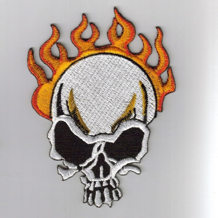 cool embroidered biker skull patch designs for your motorcycle jacket and vest Moto Club rank patches