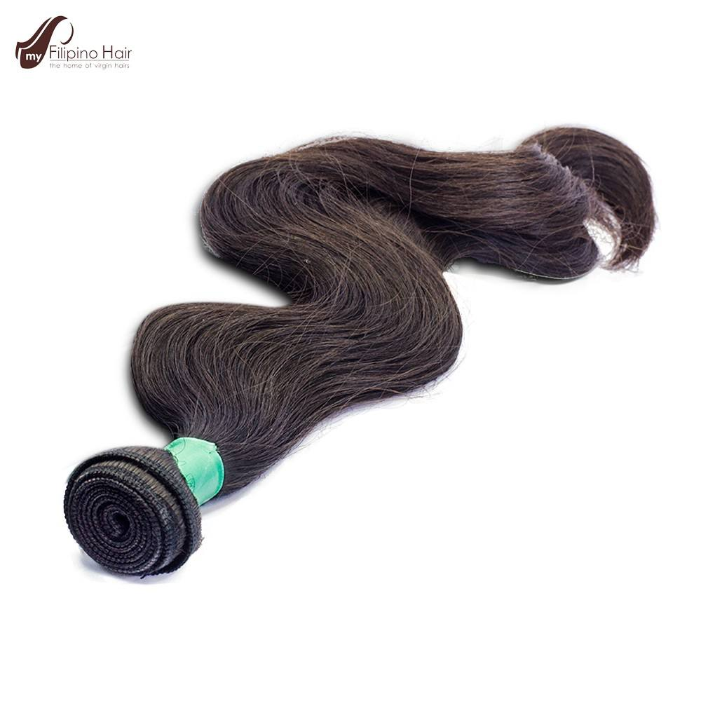 Natural Wavy Machine Weft Hair Extension