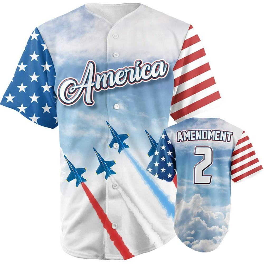 American Flag Jets Baseball Jerseys
