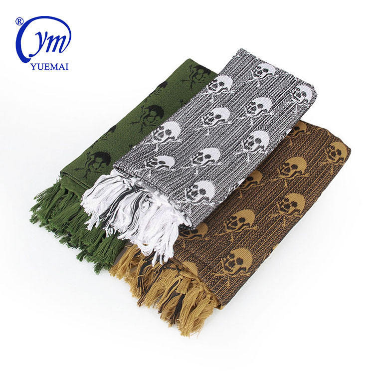 Multifunctional Outdoor Windproof And Sand Proof Tactical Military Skull Square Scarf Shemagh