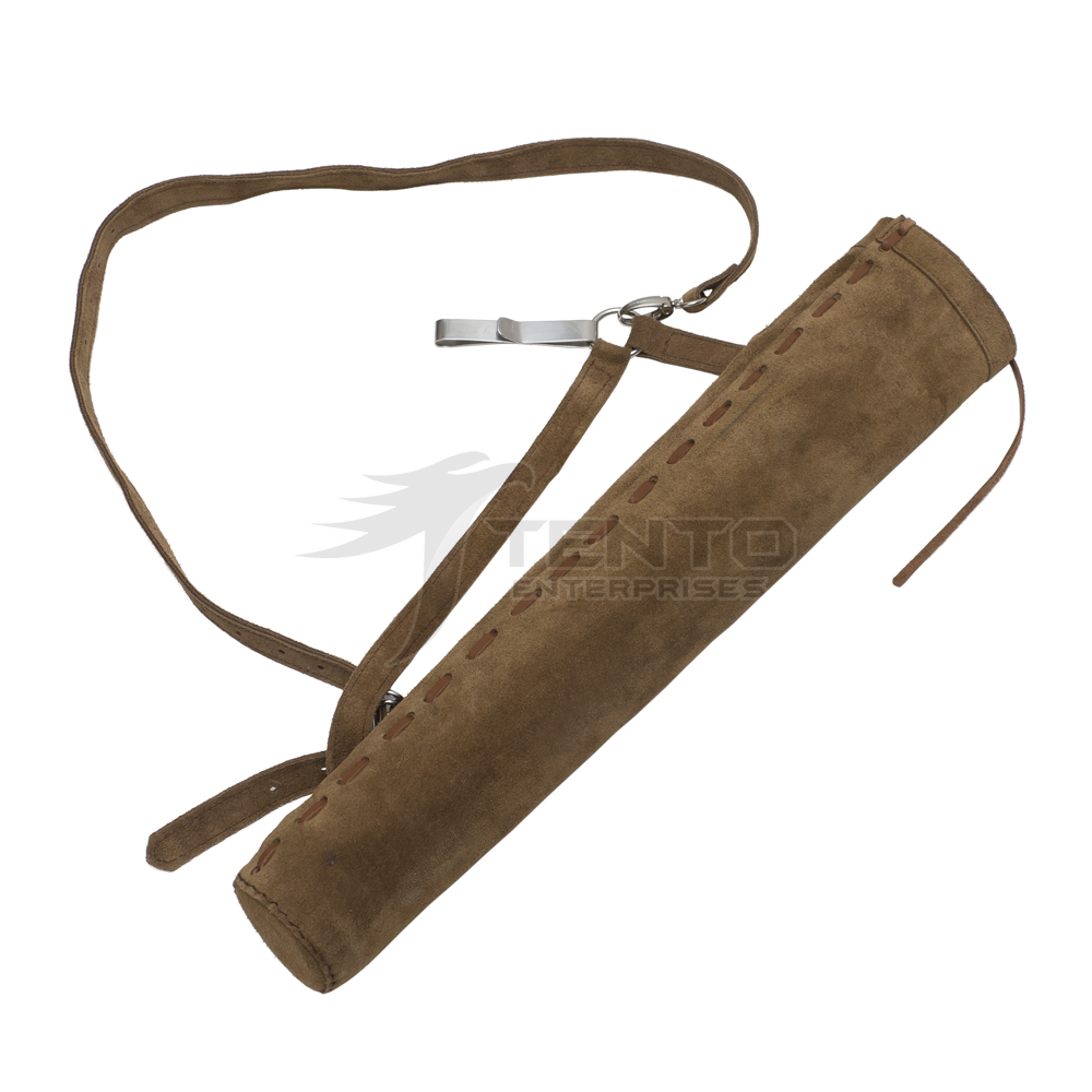 Traditional Hunting Bow Arrow Bag Back Archery Leather Quiver For Arrows