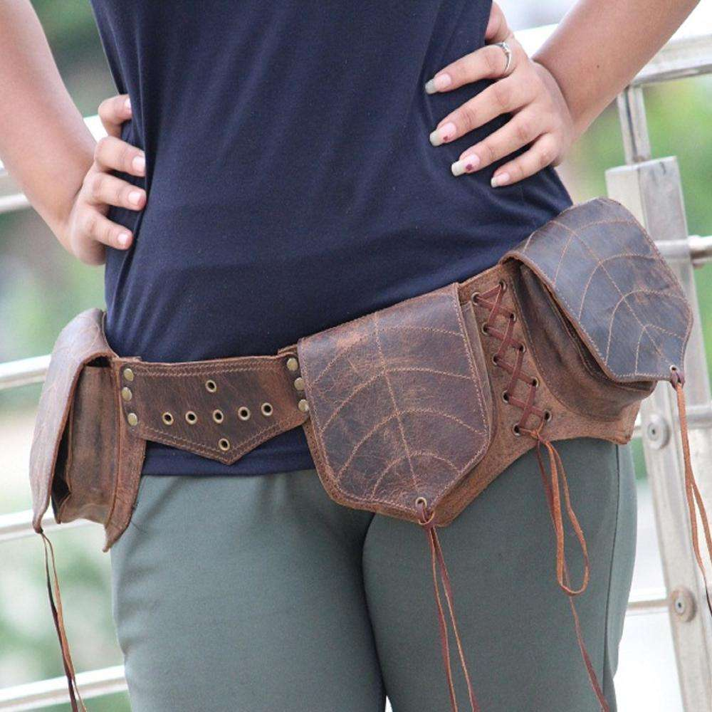 Handmade Genuine Leather Waist Pocket Belt stylish Leather Hip Bag