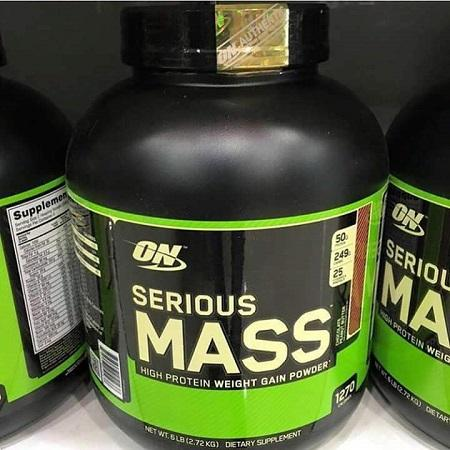 أعلى درجة Serious Mass بروتين مصل اللبن 12lbs / Super Mass Gainer مسحوق بروتين مصل الحليب