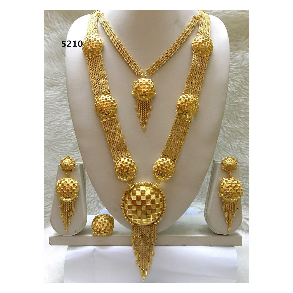 Necklace Earring Ring African Jewellery Design Set Gold Plated Wedding