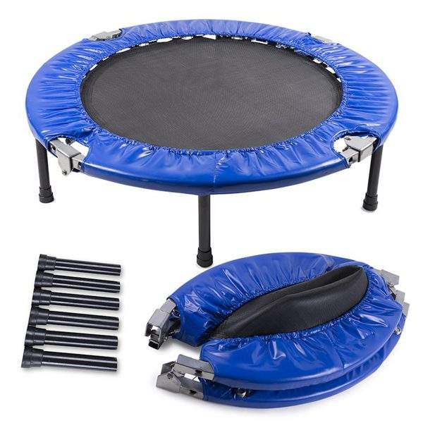40 Inch Mini Trampoline Foldable 150 KG weight capacity Indoor Fitness Exercise Rebounder