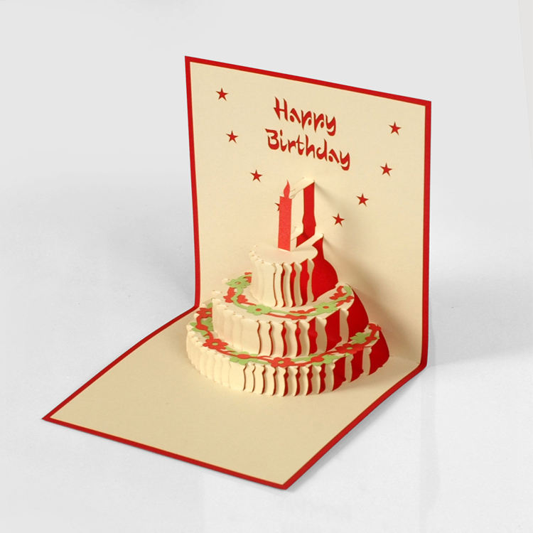 New Arrival 2020 Trending Suppliers Celebration Happy Birthday Pop Up Cards Printing