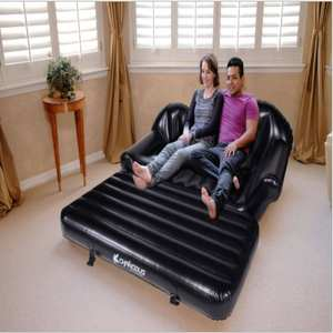Top quality three seats inflatable air lounge 5 in 1 air sofa bed