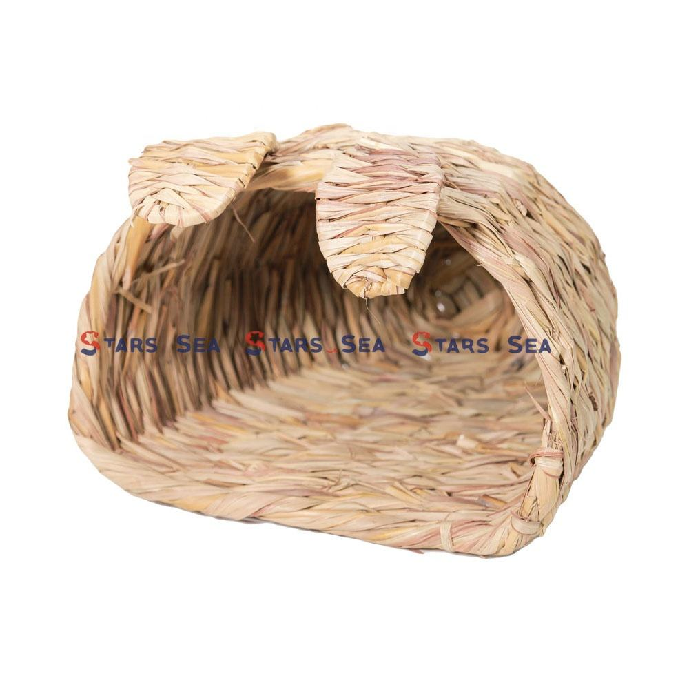 Grass woven house for rabbit/woven bed for small animals/Play Toy for Small Animal Guinea Pig Chinchilla Hamster Rat