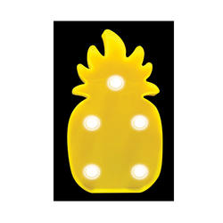 3D Mini Marquee LED Lamp Pineapple 4.75 Inch Glow In The Dark Bedroom Light Made In China