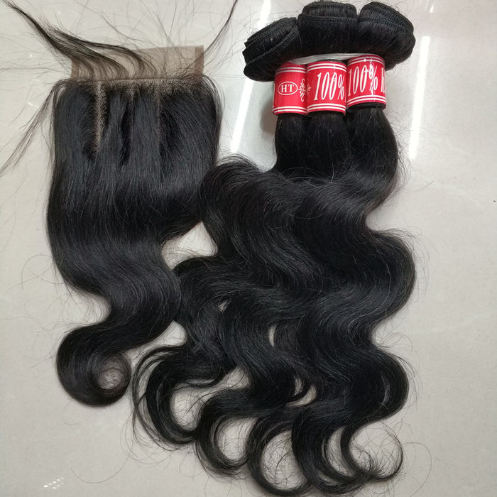 Free shipping Letsfly brazilian cheap human hair bundles china hair vendor 20pcs colored hair with 4 closures extensions