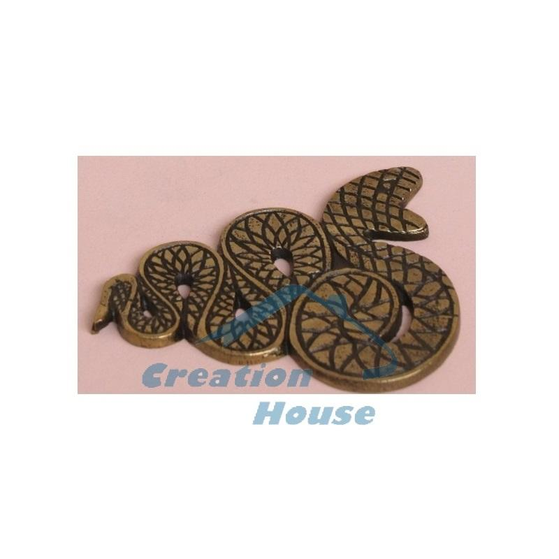 Brass Antique Finished Coaster With Snake Shaped