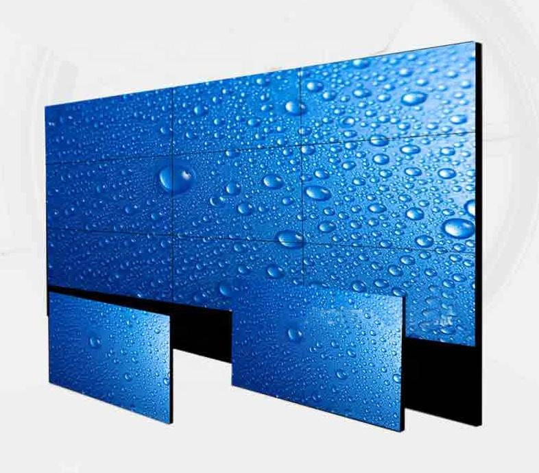 Led hd display 2x2 lcd tv wall 46 inch 3.5mm seamless video for advertising