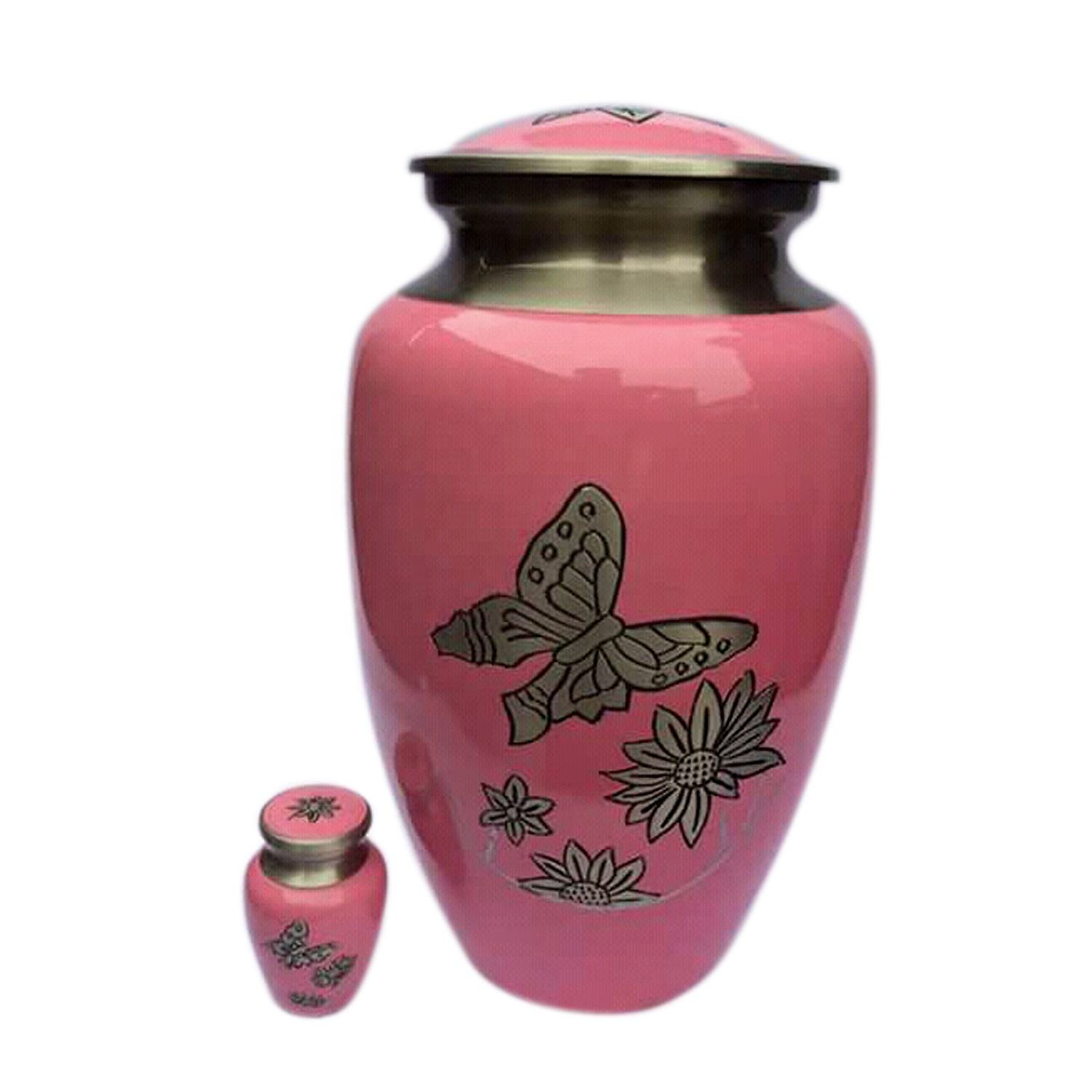 Funeral Cremation Urn butterfly High quality adult urns European American Design Funeral Ashes adult urn