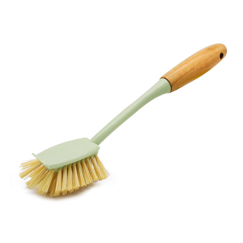 Household Cleaning Tools Bamboo Handle Plastic Bristle Brush Kitchen Ware Washing Dish Brush