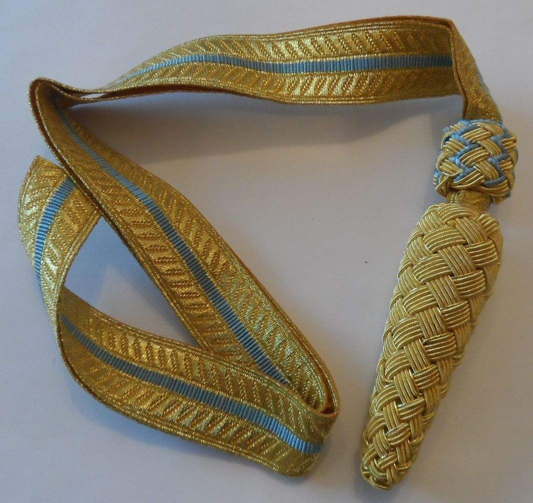 Gold Sword Knot, Army, Royal/Sword Knot