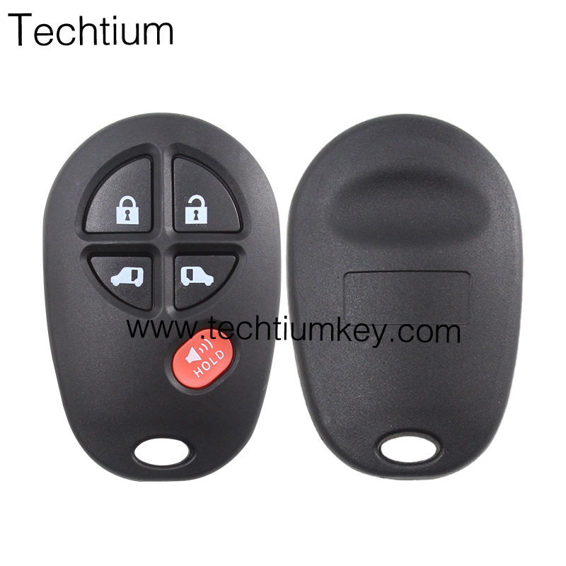 For Toyota 3+2 button auto smart remote key shell case cover blank