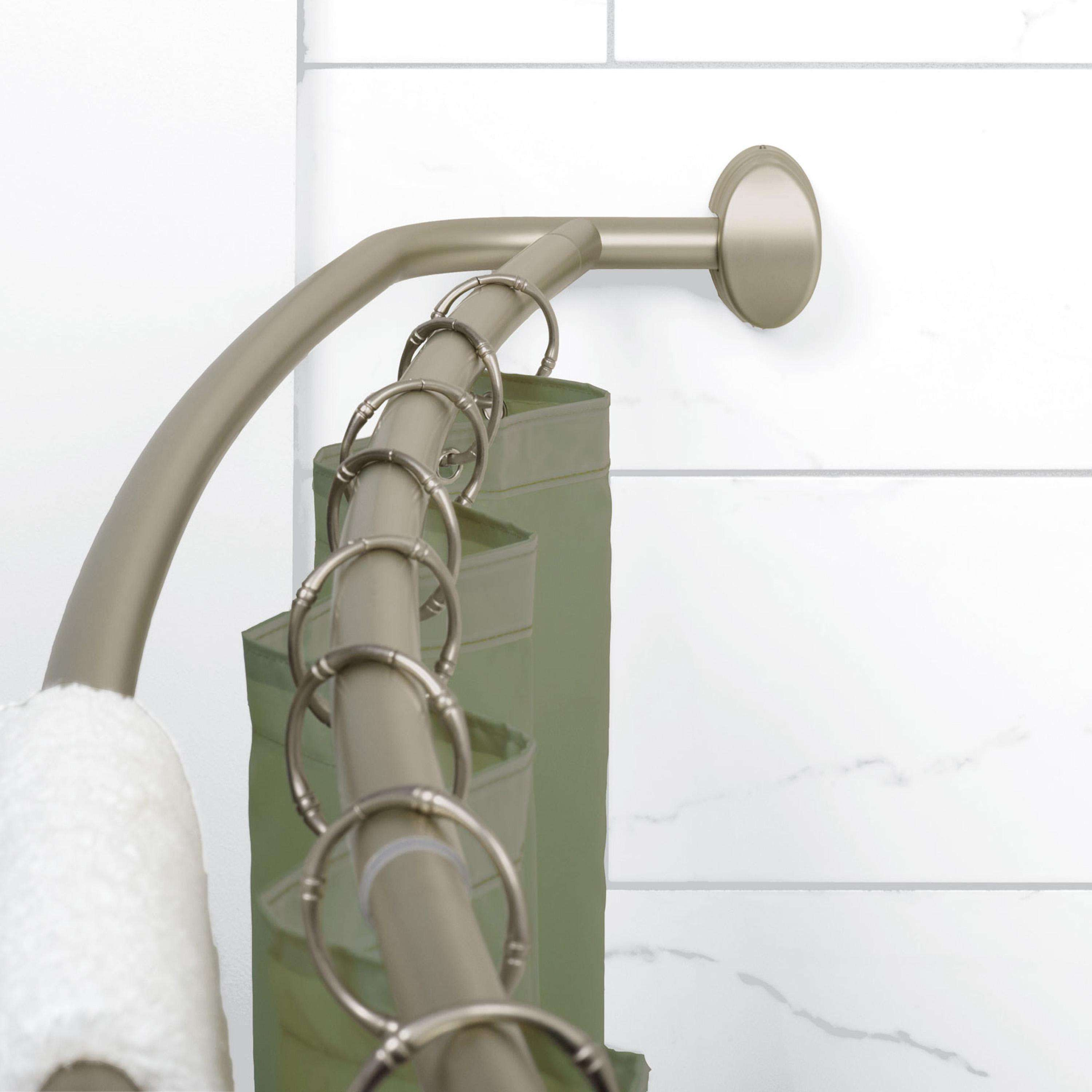 Adjustable Double Curved Shower Rod
