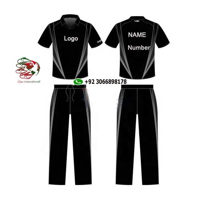 wholesale Custom made team logo and name cricket jersey sublimation printing cricket uniform