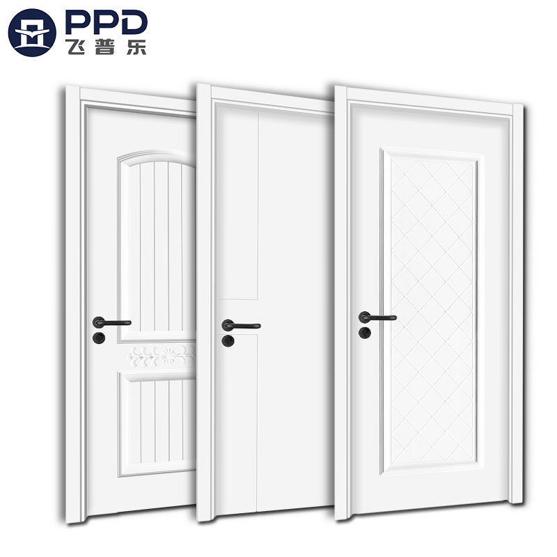 Phipulo 2020 Modern Design Cheap Price House Style Interior Wooden Doors With Frames