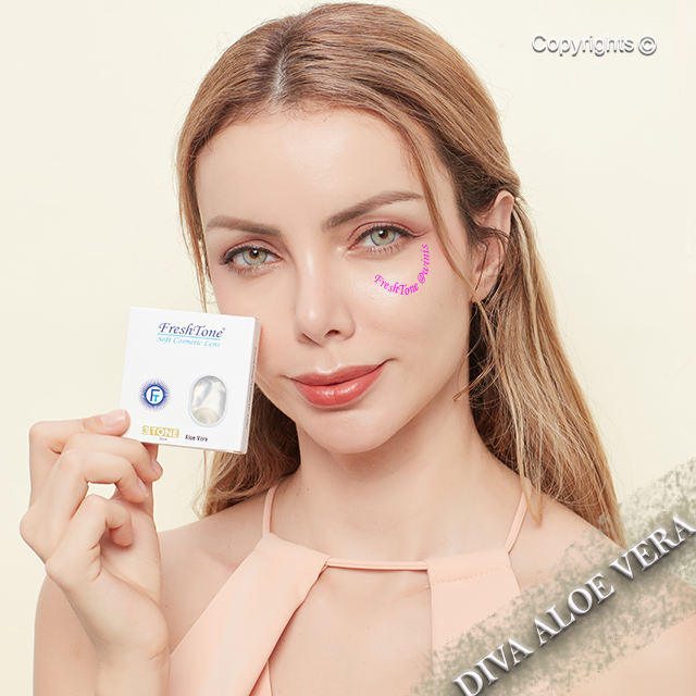 Freshtone 2021 Diva color contact lens made in South Korea
