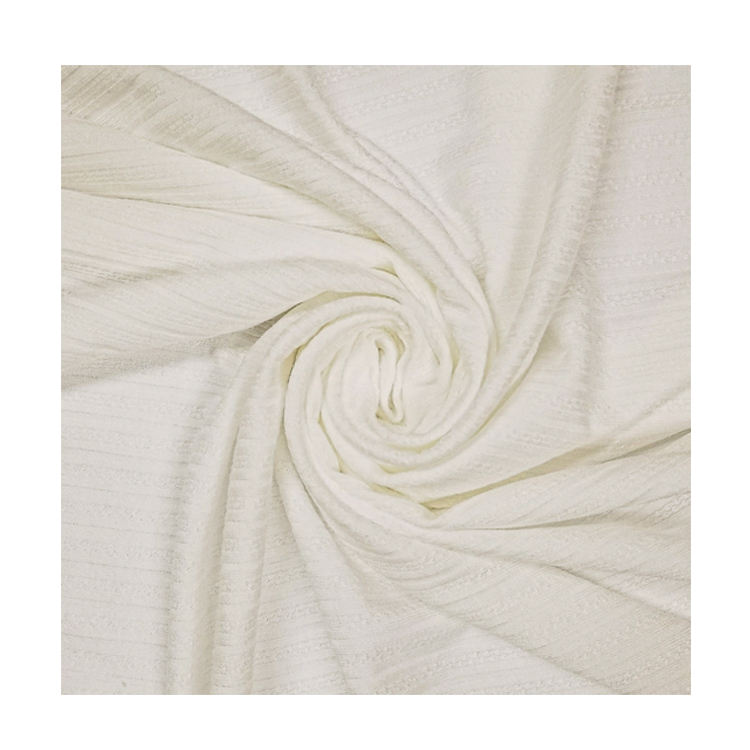 "58/60"" Width 94% Rayon 6% Spandex and 2-Way Stretch Hot Selling Pontelle Rib Knit Fabric Manufacturer"