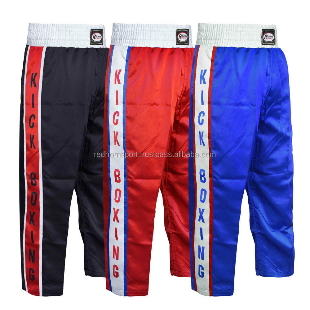 Men Kickboxing Trousers - Muay Thai Kick Boxing Pants - Customized Kick boxing Trousers by Red Horn Sports