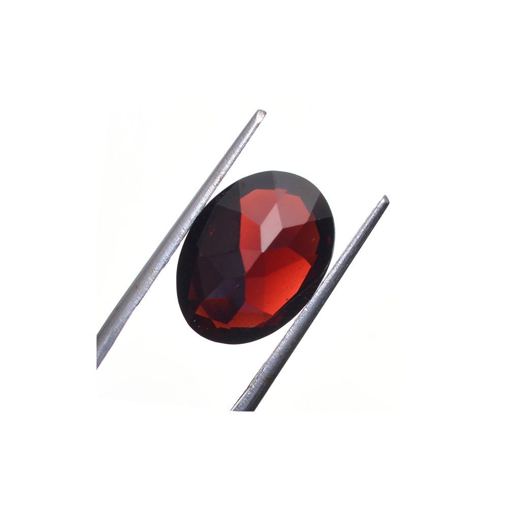 Oval Shape Natural Wholesale Price Decorative Loos Gemstone Garnet 6x4mm Gem Stone from India