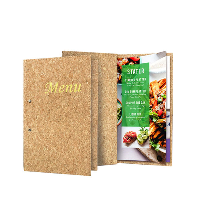 2020 most popularhot sale high quality wood color menu Restaurant menu folder