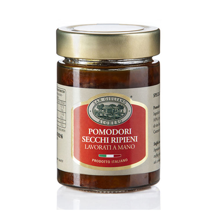 Dried Tomatoes in Olive Oil Glass Jar 320 G Tinned Food