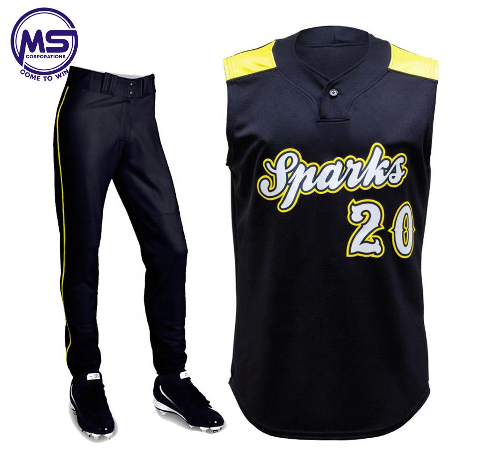 2020 Different Color Baseball Jersey With Pant Custom Size Sports Wear Softball,Baseball Uniform