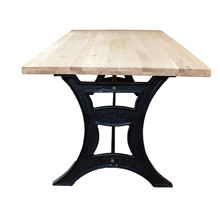 Industrial Vintage Style Mango & Acacia Wooden or Glass Top Cast Iron & Wrought Iron Base Cafe De Lyon Dining Table Legs