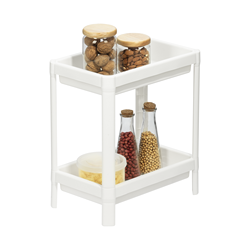 Tokyo Two Layers Shelf White Plastic Inochi High Quality Product From Vietnam