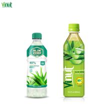 500ml VINUT Brand Bottle canned aloe vera with Green Apple