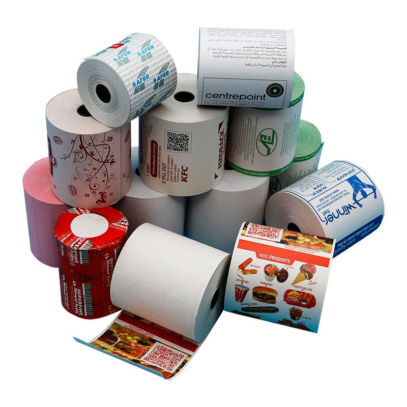 Hot Koop 55G 80 Mm * 80 Mm Atm Afdrukken Thermisch Papier Roll